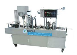 Automatic Cup Filling and Sealing Machine-Kush Enterprises