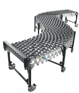 Expandable skate wheel conveyor