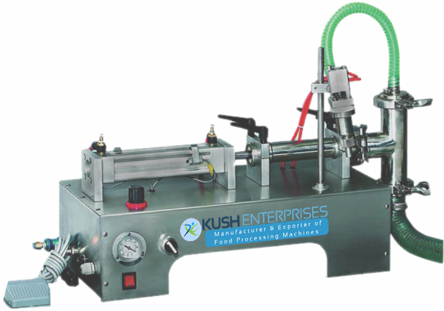 Single Heads Pneumatic Liquid Filling Machine-Kush Manufacturer